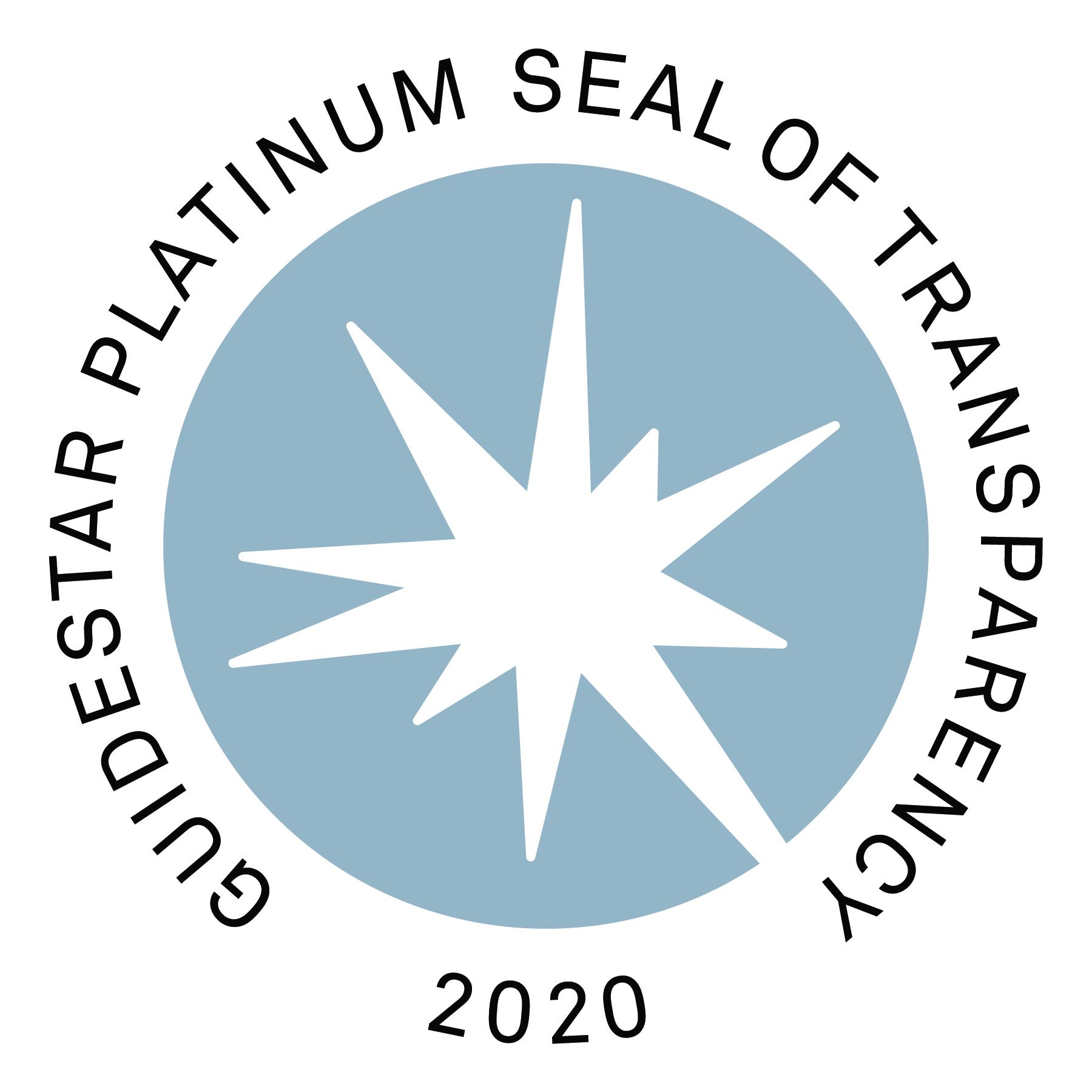 Guidestar Platinum-Seal of Transparency 2020