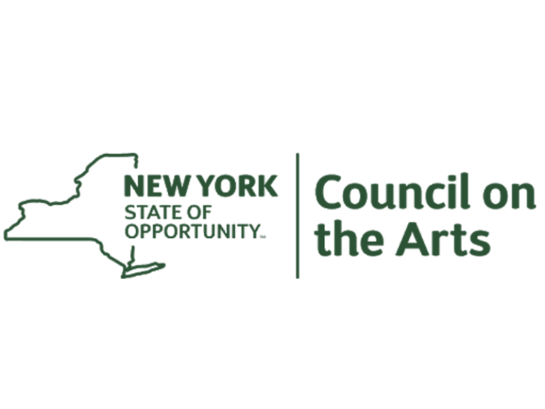 New York State of Opportunity Council on the Arts logo in green, featuring an outline of NY State.
